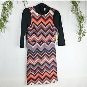 NWT Eci Turtleneck Long Sleeve Black Dress Small